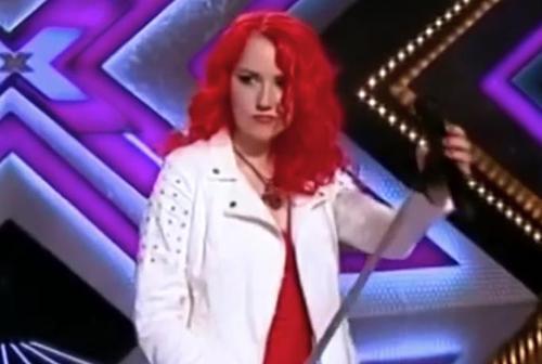 Cartone animato ragazza dai capelli rossi